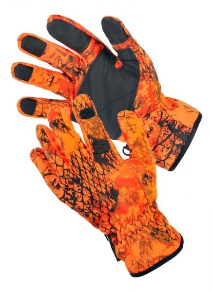 Rękawice Snake camo orange - z otworem na palec