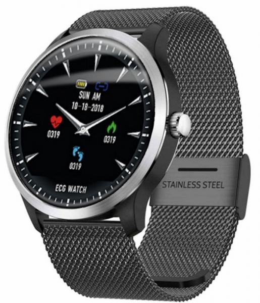 Kenys V4 zegarek/smartwatch z pomiarem EKG - czarna bransoleta