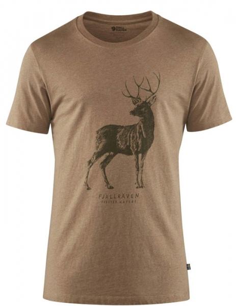 Deer T-shirt Sand - bawełniana koszulka z jeleniem Fjallraven