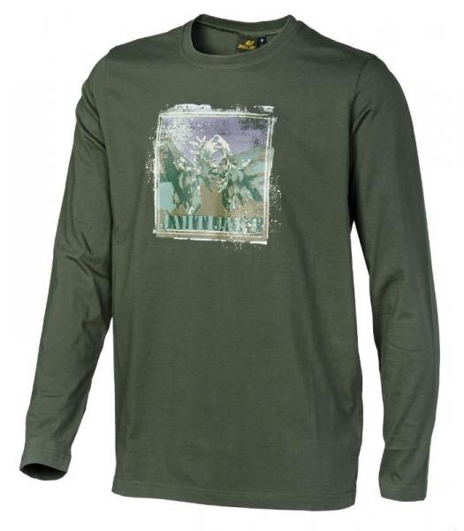 Hjort - bawełniana koszulka długi rękaw ROZMIARY M-L