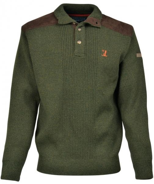 Sweter zapinany pod szyję na guziki 70% akryl 30% wełna