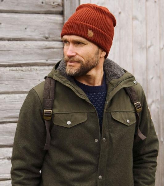 Merino Structure hat autumn leaf - ciepła wełniana czapka