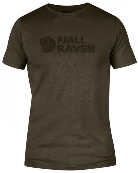 Logo T-shirt dark olive - koszulka Fjallraven