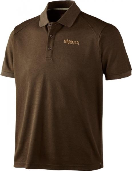 Gerit brown - techniczna koszulka polo ROZM L-3XL