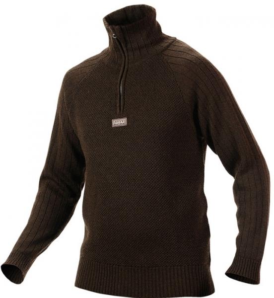 Unuk - sweter z wełny z merynosów brązowy Alaska