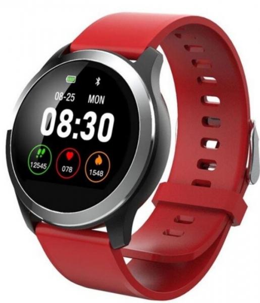 Kenys V5 zegarek/smartwatch wodoodporny z pomiarem EKG - pasek czerwony