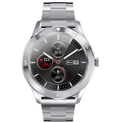 Kenys Wodoodporny zegarek EKG-S1 srebrny ze srebrną bransoletką