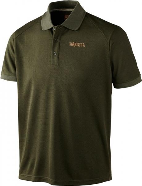 Gerit dark olive - techniczna koszulka polo ROZM do 3XL