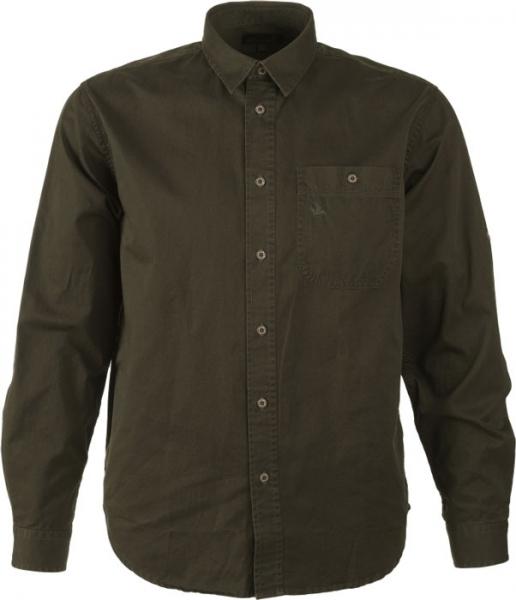 Flint olive - koszula bawełniana Seeland