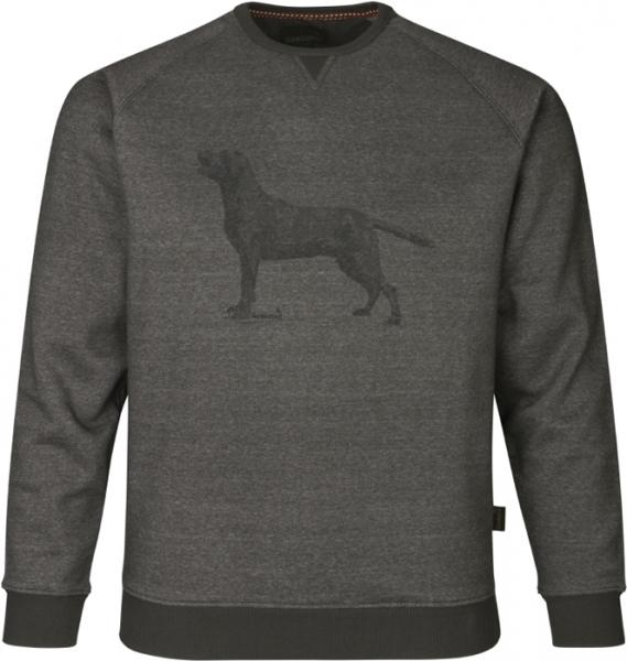 Key-Point sweatshirt grey melange ciepła bluza z psem