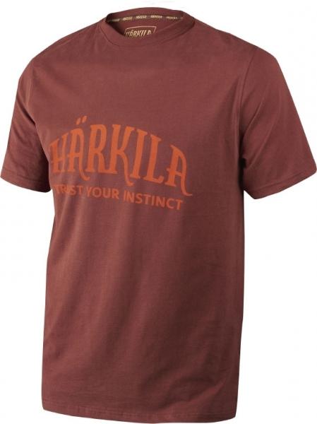 Harkila fired brick - bawełniana koszulka z logo Harkila