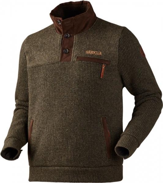 Rodmar green - gruby sweter z wysokim kołnierzem