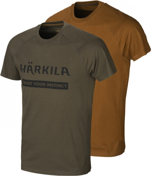 Koszulki letnie Logo 2-pak willow green / clay do 5XL!