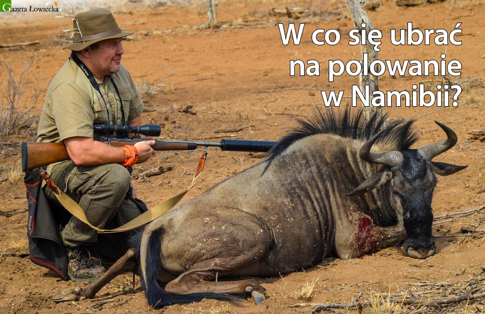 Ubrania na polowanie w Nambii